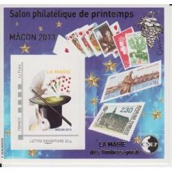 BLOC CNEP 63 SALON PHILATELIQUE DE PRINTEMPS DE MACON