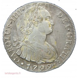 ESPAGNE - 8 REALES CARLOS IV 1799 - LIMA