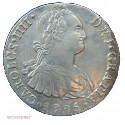 ESPAGNE - 8 REALES CARLOS IV 1795 - LIMA - PEROU