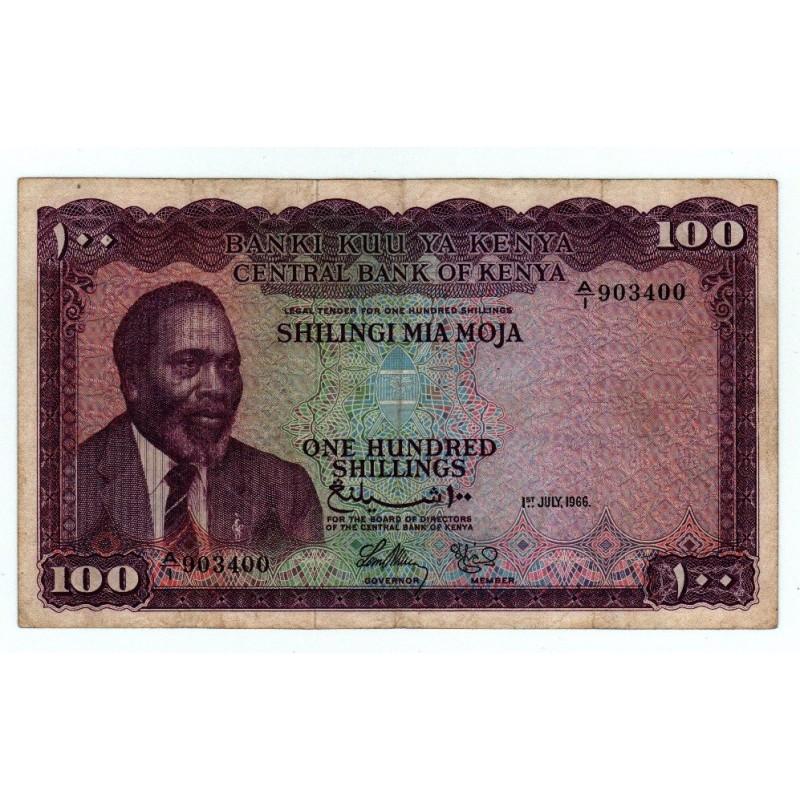 Kenya 100 Shillings 1 Jul 1966 Pick 5a