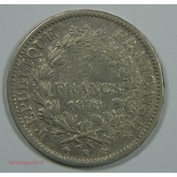 5 Francs 1878 K Bordeaux - HERCULE