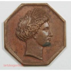 JETON HORTICULTURE, PÈCHE ET CHASSE STÉ D' AGRICULTURE DE MELUN 1823
