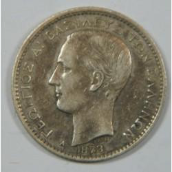 GRECE. George I 1863-1913 1 Drachm 1873 Paris TTB