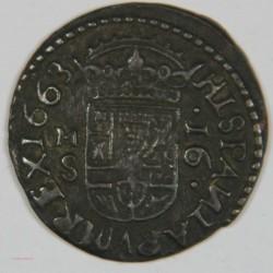 ESPAGNE - Felipe IIII 1663 16 Maravedis. (Cobre) Madrid