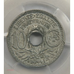 SPL,10 centimes, Cmes souligné et millésime avec points 1941 MS64 PCGS