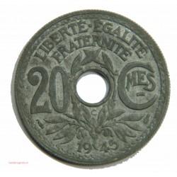 Lindauer - 20 centimes 1945 C - SUP+ MS 61