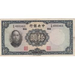 CHINE 10 YUAN 1936