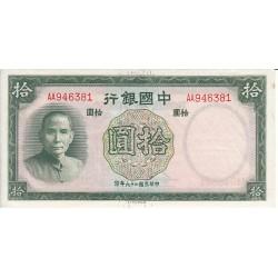 CHINE 10 YUAN 1937