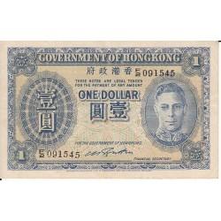 HONG KONG  1 DOLLAR  1940/1941 (PICK 316)
