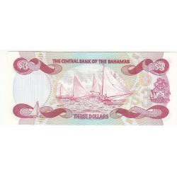BAHAMAS 3 DOLLARS 1984 NEUF
