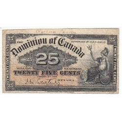 CANADA 25 CENTS 1900 PICK 2a
