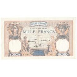 1000 Francs CERES ET MERCURE 26-01-1939 SUP Fayette38.33