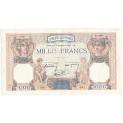 1000 Francs CERES ET MERCURE 03-11-1938 TTB+ Fayette38.32
