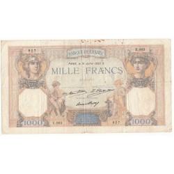 1000 Francs CERES ET MERCURE 31-07-1930 TB Fayette 37.5