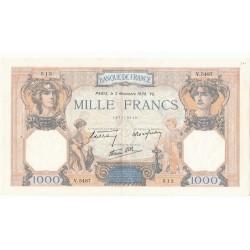 1000 Francs CERES ET MERCURE 03-11-1938 SUP Fayette38.32