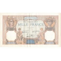 LOT DE 2 BILLETS 1000 Francs CERES ET MERCURE  21-09-1939 TTB+ Fayette 38.37