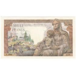 1000 Francs DEESSE DEMETER 07-01-1943 Fayette 40.15