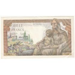 1000 Francs DEESSE DEMETER 27-05-1943 Fayette 40.25