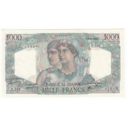 1000 Francs MINERVE ET HERCULE 03-10-1946 Fayette 41.17