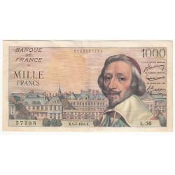 1000 Francs RICHELIEU 01-07-1954 Fayette 42.6