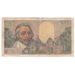 1000 Francs RICHELIEU 07-04-1955 Fayette 42.12