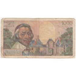 1000 Francs RICHELIEU 03-11-1955 Fayette 42.16