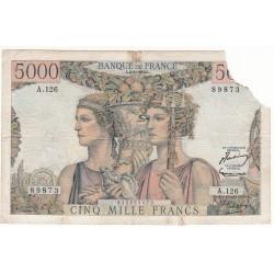 5000 Francs TERRE ET MER 02-01-1953 Fayette F48.8
