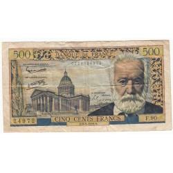500 Francs VICTOR HUGO 06-02-1958 Fayette 35.8