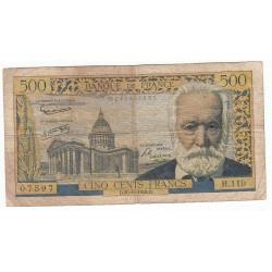 500 Francs VICTOR HUGO 30-10-1958 Fayette 35.11