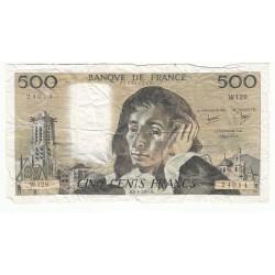 500 Francs PASCAL 08-01-1981 Fayette 71.23