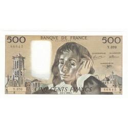 500 Francs PASCAL 02-01-1992 SPL Fayette 71.49