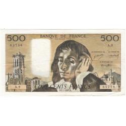 500 Francs PASCAL 02-01-1969 Fayette 71.3