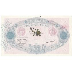 500 Francs FRANCS BLEU ET ROSE 11-03-1937 Fayette 30.38
