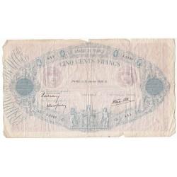 500 Francs FRANCS BLEU ET ROSE 12-01-1939 Fayette 31.22