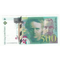 500 Francs PIERRE ET MARIE CURIE 1994 Fayette 76.1