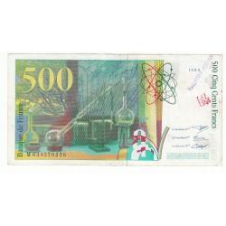 500 Francs PIERRE ET MARIE CURIE 1995 Fayette 76.2