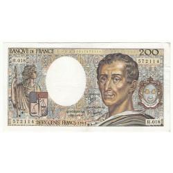 200 Francs MONTESQUIEU 1983 Fayette 70.3