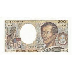 200 Francs MONTESQUIEU 1987 Fayette 70.5