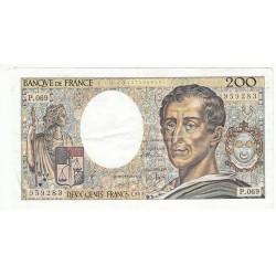 200 Francs MONTESQUIEU 1989 Fayette 70.9 SUP