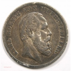 Allemagne – 5 Mark 1874 Wuerremberg