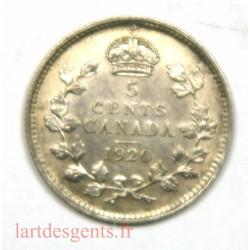 Canada - 5 Cents 1920 -Georgius V