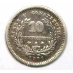 Uruguay – 10 Centisimos 1877 FAUTEE