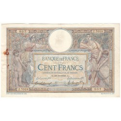 100 FRANCS LUC OLIVIER MERSON 19-11-1920 Fayette 23.13