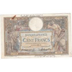 100 FRANCS LUC OLIVIER MERSON 18-06-1921 Fayette 23.14