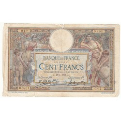100 FRANCS LUC OLIVIER MERSON 18-01-1923 Fayette 23.16