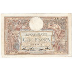 100 Francs LUC OLIVIER MERSON 08-11-1934 Fayette 24-13