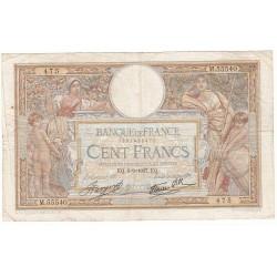 100 Francs LUC OLIVIER MERSON 09-09-1937 Fayette 25.1
