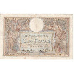 100 Francs LUC OLIVIER MERSON 21-10-1937 Fayette 25.3