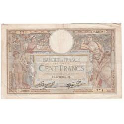 100 Francs LUC OLIVIER MERSON 02-12-1937 Fayette 25.4