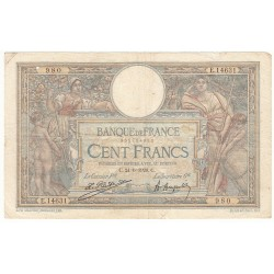100 Francs LUC OLIVIER MERSON 24-06-1926 Fayette 24.4